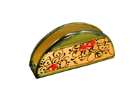 "Napkin Holder 6"" x 3"" cherry design"