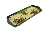 "Serving tray 14"" x 5.25"" cherry design"