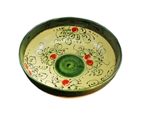 "Salad bowl 12.25""dia x 4""h  cherry design"