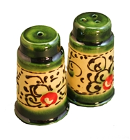 "SALT & PEPPER SHAKER 2"" x 3"" Olive design"