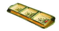 "Snack tray 14"" x 5.25"" cherry design"