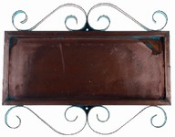 Horizontal Copper Frame for 4 Numbers