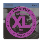 D'Addario EPS520 ProSteels, Super Light, 09-42 Electric Strings