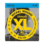 D'Addario EXL125 Nickel Wound, Super Light Top/ Regular Bottom, 09-46 Electric Strings