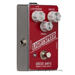 reer Amps Lightspeed Organic Overdrive Pedal in Red and White