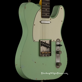 Nash Guitars T-63 Light Distress in Surf Green - Black and White Blues Guitar Shop