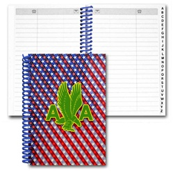 Lenticular address book with patriotic stars Prints