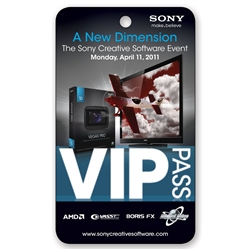 Lenticular event pass press Admission Pass VIP with television airplane flying, depth flip