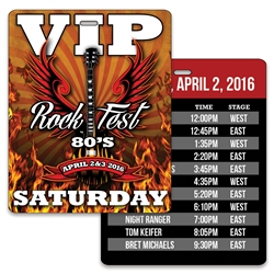 Lenticular event pass press Admission Pass VIP