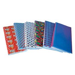 Lenticular business card file with custom, color changing