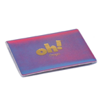 Lenticular business card holder with custom oh! imprint, color changing