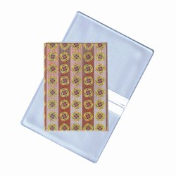 Lenticular business card holder with gold and silver circles and stripes, color changing animation