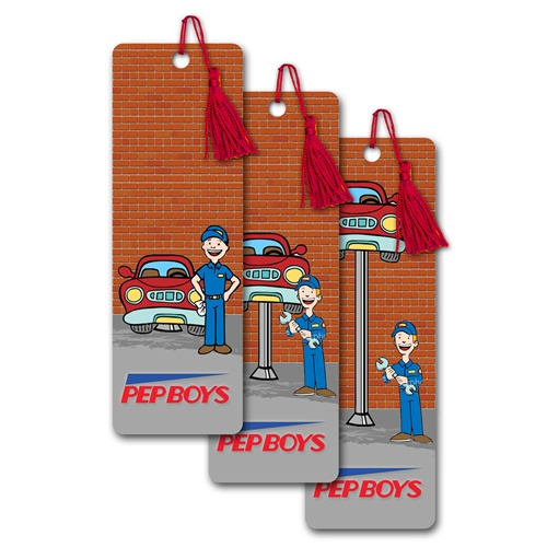 Your Mechanic Promo Code >> 3D Lenticular bookmark w/ animation of a mechanic raising ...