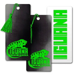 Lenticular bookmark with black and grey gradient, color changing