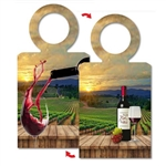 Lenticular Bottle Necker with custom design of wine bottle