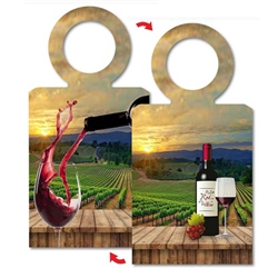 Lenticular 3D Bottle Necker with custom design of wine bottle