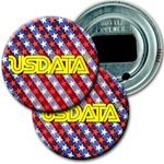Lenticular bottle opener with USA flag stars and stripes, color changing flip