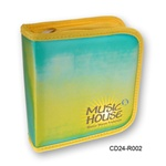 Lenticular CD case with yellow, blue, and green, color changing with