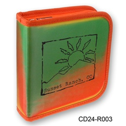 Lenticular CD case with orange and green gradient, color changing with