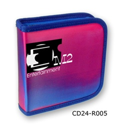 Lenticular CD case with pink and blue gradient, color changing