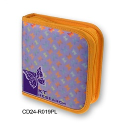 Lenticular CD case with rainbow butterflies on a purple background, color changing flip