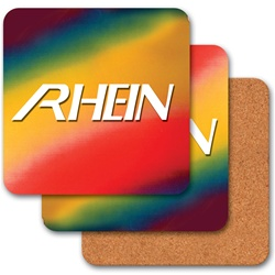 Lenticular coaster with red, yellow, green, and black, color changing