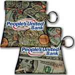Lenticular coin purse with American paper currency to assorted coins, flip