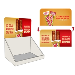 Lenticular 3D Countertop Display Chocolate Bars