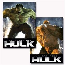Lenticular DVD cover with custom design, HULK movie character morphs into a yellow beast, flip