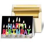 3D Lenticular Personalized Birthday Cards Image with Happy Birthday Candles
