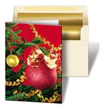 3D Lenticular Christmas Cards Print Red Ornament and Tree