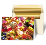 3D Lenticular Christmas Cards Image Gold Ornament and tree