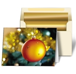 3D Lenticular Christmas Card Pictures Print with Orange Christmas Ornaments
