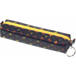 Lenticular pencil case with yellow, red, and green butterflies Images
