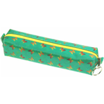 Lenticular pencil case with yellow, red, and green butterflies Image