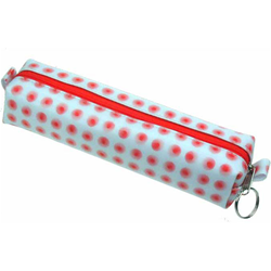 Lenticular pencil case with red circles Images