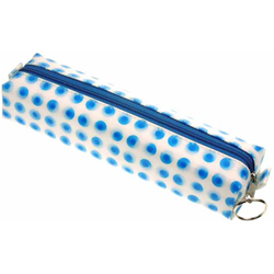 Lenticular pencil case with blue circles Images