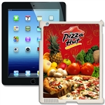 Lenticular iPad Skin for iPad 2 and iPad 3, White, with Pizza Hut Image Lantor Ltd
