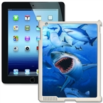 Lenticular iPad Skin for iPad 2 and iPad 3, white, with Shark Image Lantor Ltd