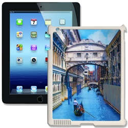 Lenticular iPad Skin for iPad 2 and iPad 3, White, Boat rowing in Venice Canal Lantor Ltd Blank