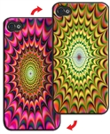 3D Lenticular iPhone Skin Psychadelic Kaleidoscope Printer Lantor Ltd Blank