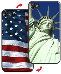 3D Lenticular iPhone Skin Statue of Liberty American Flag Printer Lantor Ltd