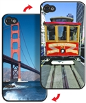 3D Lenticular iPhone Skin San Fransisco Golden Gate Bridge and Trolley Lantor Ltd