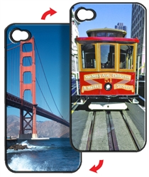Lenticular iPhone Skin San Fransisco Golden Gate Bridge and Trolley Lantor Ltd Imprint