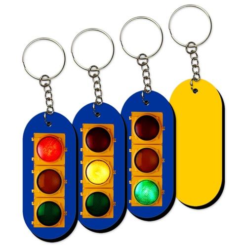 Lenticular Foam Keychain, Traffic Light Switching