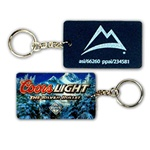 Lenticular foam key chain with custom design, Coors Light and Rocky Mountains, depth