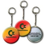 Lenticular key chain with red, yellow, and blue, color changing