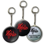 Lenticular key chain with black and white gradient, color changing