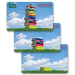 Lenticular gift card with stack of books build up a tower to the sky, animation