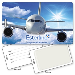 Lenticular Luggage Tag with airplane design